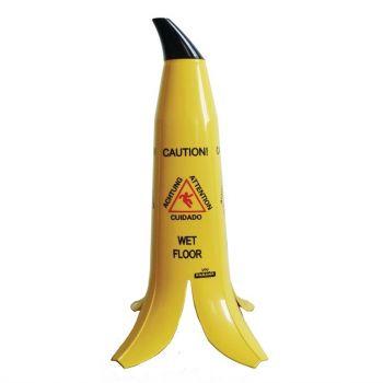 """Bananenschil waarschuwingsbord """"Caution wet floor"""""""