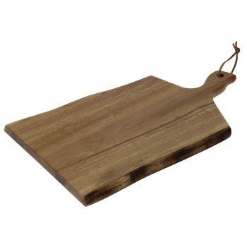Olympia acaciahouten plank golvende rand 38.5x21.5cm