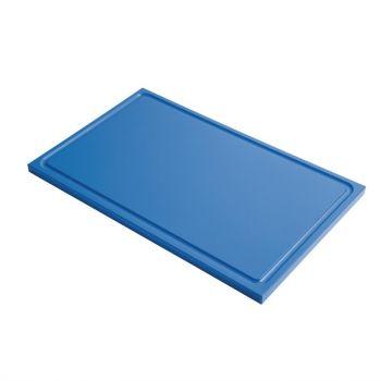 Gastro M GN1/2 HDPE snijplank met sapgeul blauw