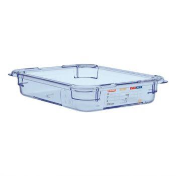 Araven ABS blauwe GN 1/2 voedseldoos 6.5cm diep
