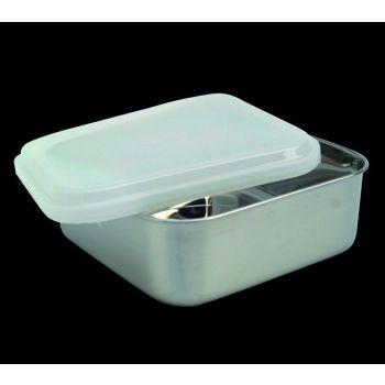 Kitchen vierkante voorraaddoos met plastiek deksel 65031 13,5cm