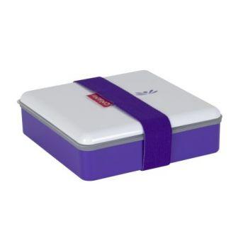 Omami paarse lunchbox 15x15x4,6cm