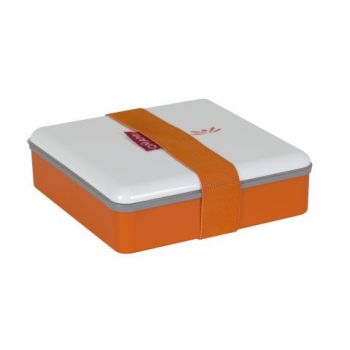 Omami oranje lunchbox 15x15x4,6cm