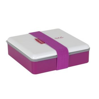 Omami roze lunchbox 15x15x4,6cm
