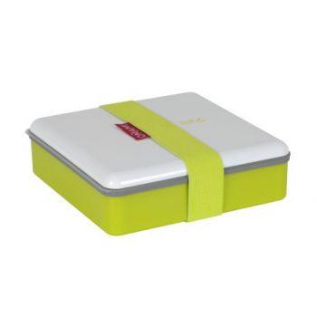 Omami groene lunchbox 15x15x4,6cm
