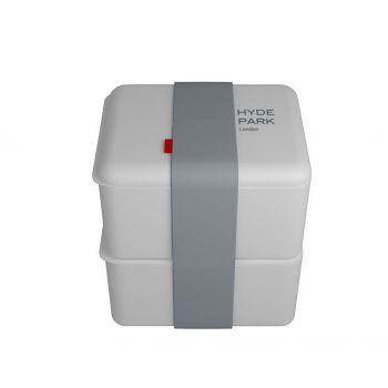 Omami witte lunchbox 2 stuks 12x10x6,7cm