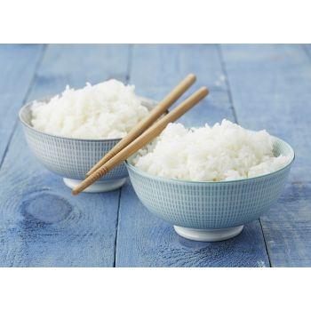 2 Rijstkommetjes in aqua & grijs met chopsticks