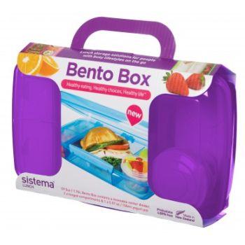 Sistema To Go Bento Box 1.76L met yoghurt potje Roze