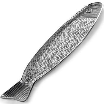 Paola Navone B9516009 Fish&Fish Visschotel Aluminium Alu 58x14,4xH1,8cm