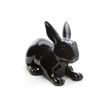 Konijn zwart outdoor 35x20.5xh25.5cm - 4763552