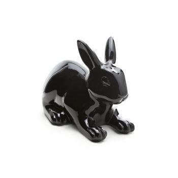 Konijn zwart outdoor 28.5x16.5xh21.5cm - 2512279