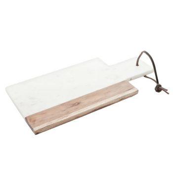 Kaasplank marmer wit 30x15cm rechth-afsc