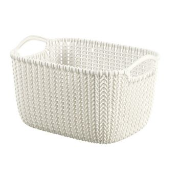 Curver Knit Mand Oasis White 8L