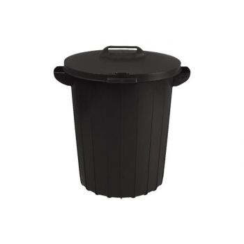 Straat-tuinafvalbak 90L zwart 49x49xH60