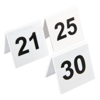 Olympia plastic tafelnummers 21-30