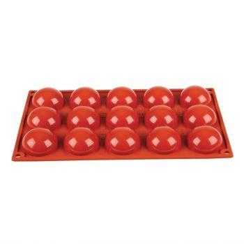 Pavoni Formaflex siliconen bakvorm 15 halve bollen