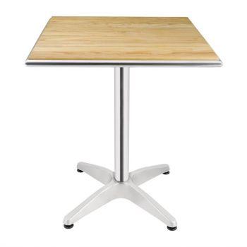 Bolero vierkante tafel met essenhouten blad 60cm
