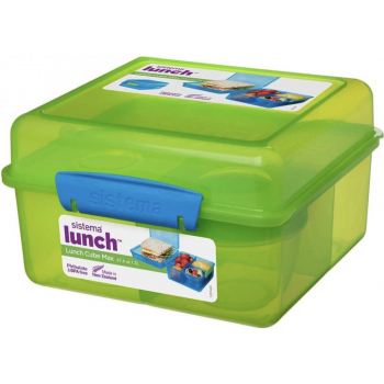 Sistema Vibe Lunch lunchbox Cube met yoghurtpotje 2L  groen